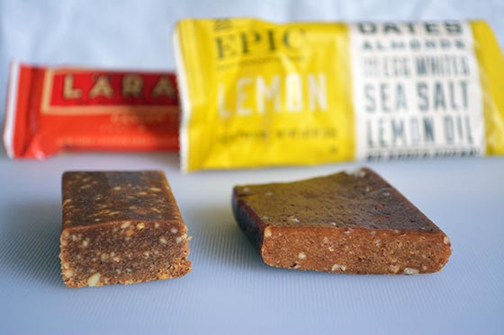epic performance bar compared to larabar energy bar