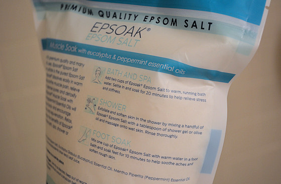 epsoak epsom salt instructions