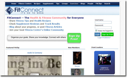 fitconnect home page