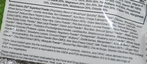 good greens z52 superfood powder