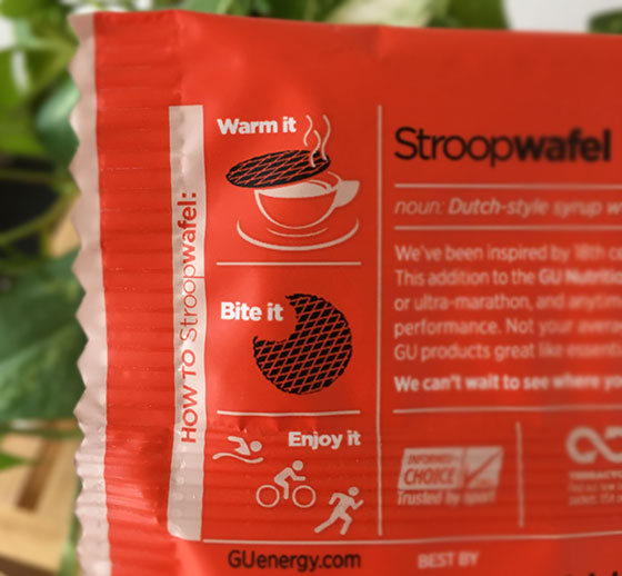 gu stroopwafel instructions on package