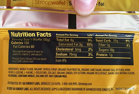 gu stroopwafel nutrition facts label