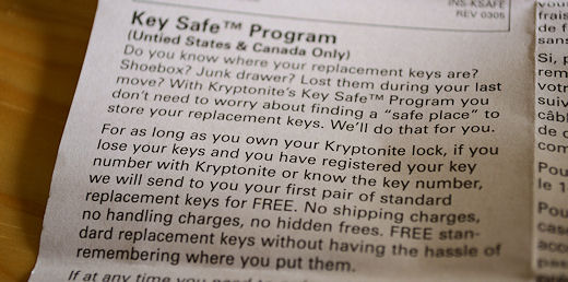 kryptonite kryptolok u-lock key safe program