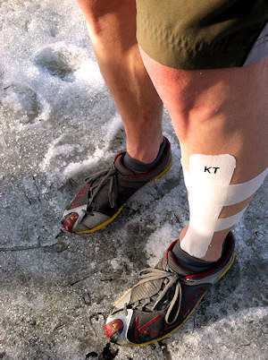 kt tape on shin