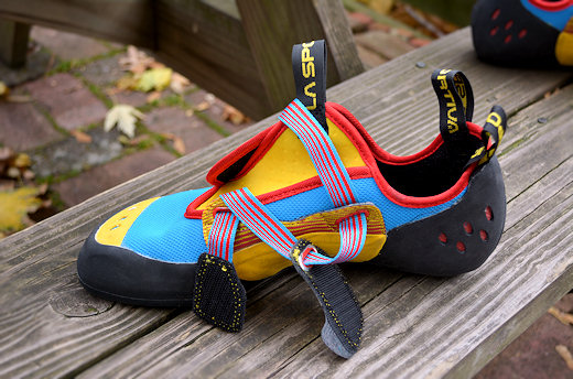 la sportiva oxygym hook loop Velcro closure