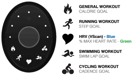 deciphering the workout icons on lifetrak zoom hrv interface