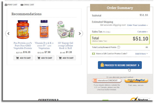 luckyvitamin secure checkout