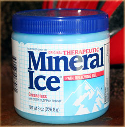 a jar of therapeutic mineral ice
