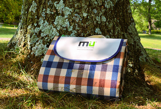 miu color folding picnic blanket