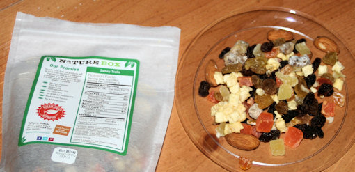 naturebox bag and contents