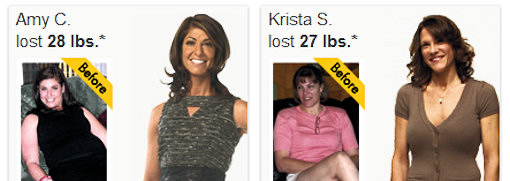 nutrisystem people lost weight
