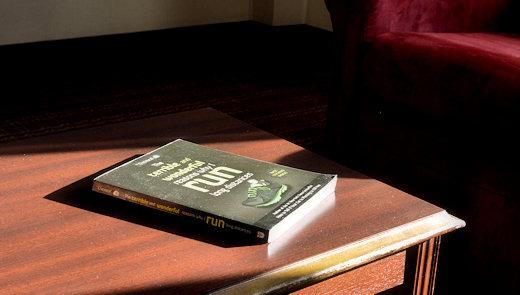 terrible wonderful run book on coffee table