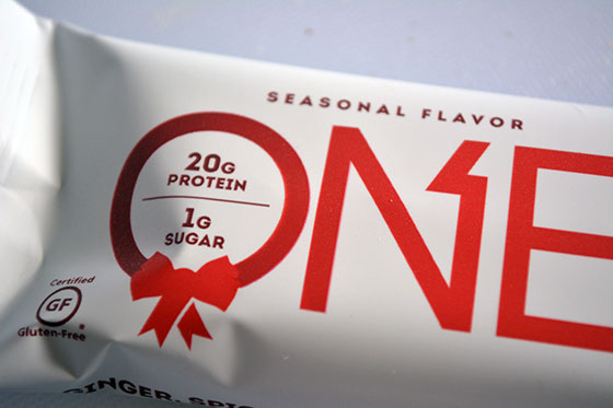 one protein bar seasonal wrapper decoration