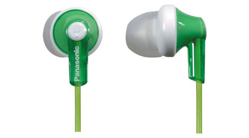 panasonic sports earbuds in green color