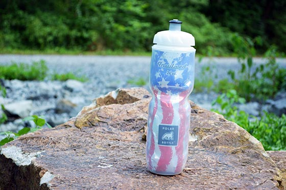 polar bottle in stars and stripes design