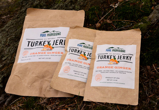 pure provisions turkey jerky packages