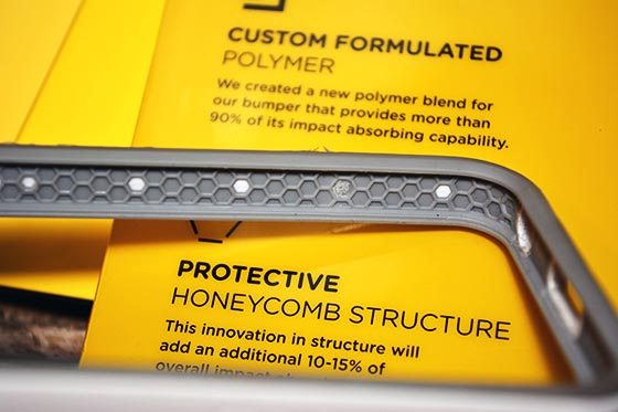 rhinoshield crashguard bumper case honeycomb protection detail