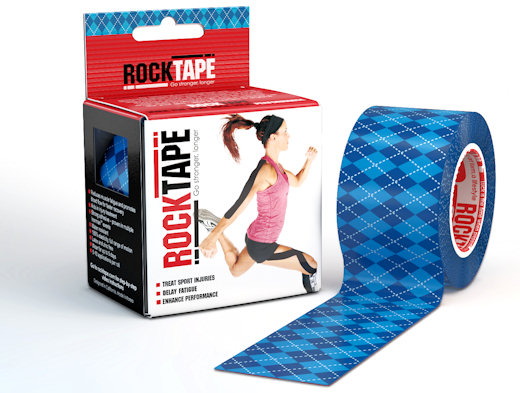 rock tape blue argyle pattern
