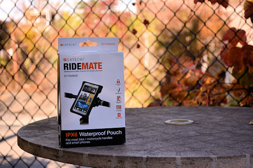 satechi ridemate waterproof case in box