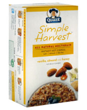 quaker simple harvest hot cereal