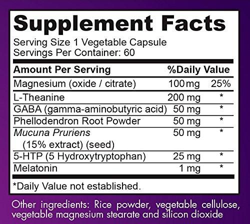 sleeperzzz sleeping pills ingredients label