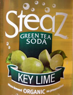 steaz green tea soda key lime