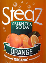 steaz green tea soda orange
