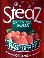 steaz green tea soda raspberry
