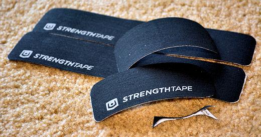 strengthtape strips cut for my knee