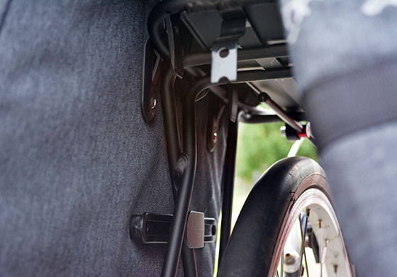 two wheel gear garment pannier mounting system
