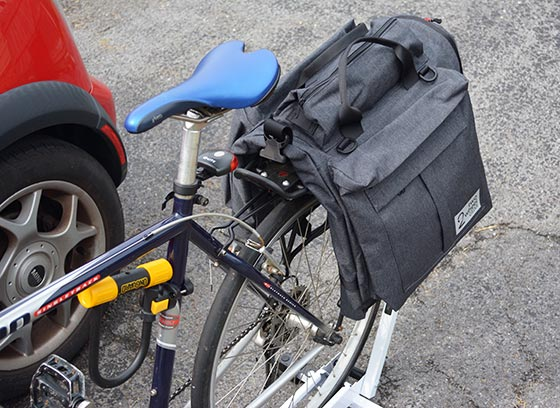two wheel gear garment pannier on my trek commuting bike