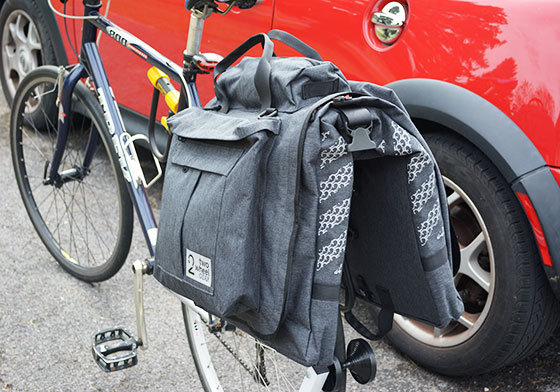 two wheel gear classic 2 garment pannier view from behind
