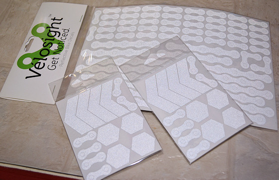 velosight reflective decals packaging