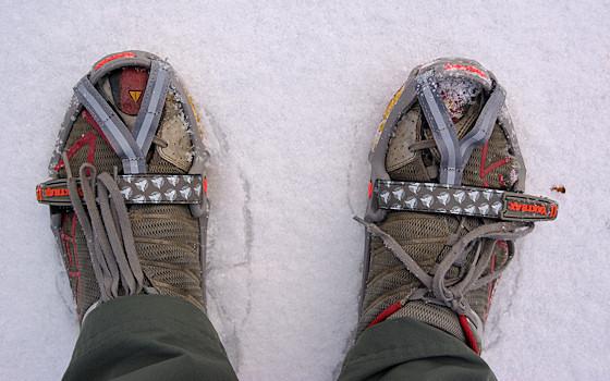 yaktrax run on keen trail running shoes