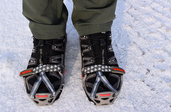 yaktrax run on salomon hiking shoes