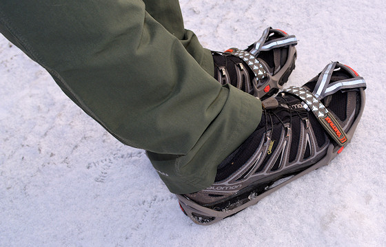 coach levi wearing yaktrax run