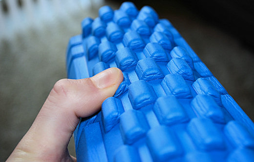 compressing foam roller knobs