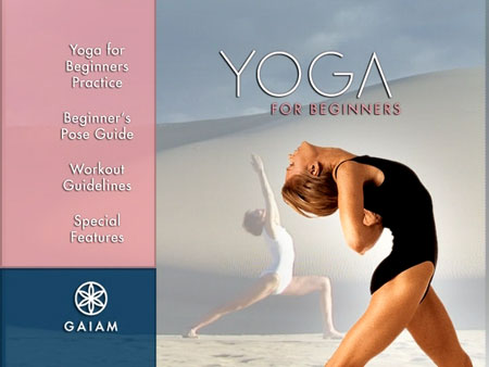 yoga for beginners dvd menu