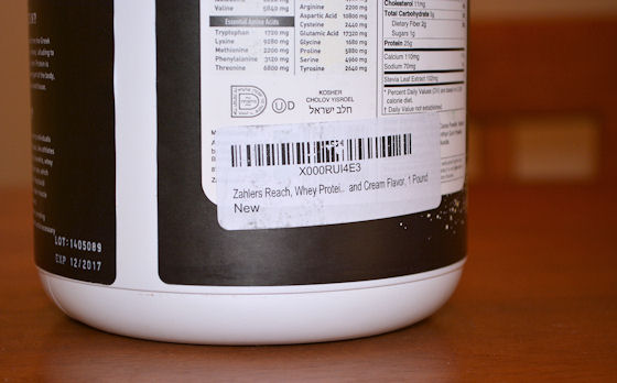 zahler reach whey protein powder
