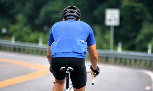 rider approaching left corner