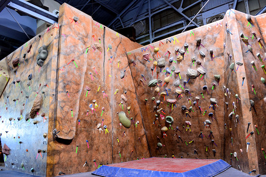 the climbing wall crack climbs