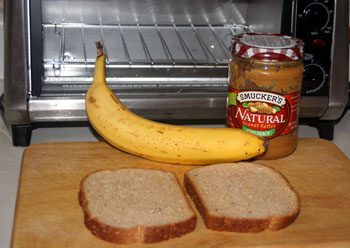 bread peanut butter banana