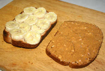 toasted peanut butter banana
