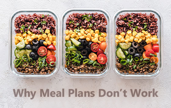 food containers arranged to fit a meal plan