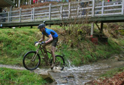 mountain bike racer